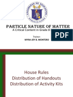 RTOT Particle Nature of Matter