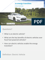 Role of EVs in the Energy Transition