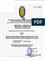 Sertifikat Akreditasi Program Studi Sarjana Kedokteran