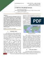 QoS of VOIP Over Broadband Network