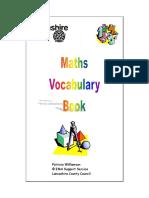 Maths Vocabulary Book