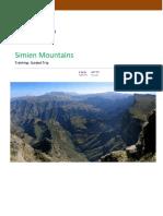AET55 -Ethiopia Semien Mt. Trekking