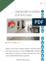 Ricambio Aria Casa- l'Importanza Leggi Nbnbnb
