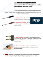 Electrical Tools and Equipments