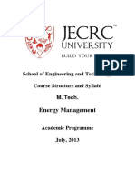 Syllabi M. Tech Energy Management