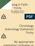 Growing in Faith Trinity