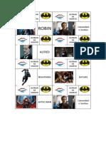 Tarjetas Escape Room Batman ha muerto