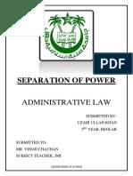 Seperation of Power Uzair
