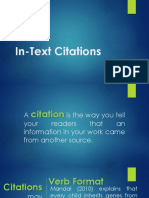 In Text Citations