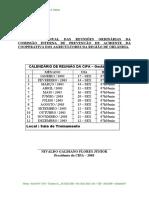 13 Calendário Anual Das Reuniões Ordinárias Da CIPA 2003 - 03551 [ E 1 ].Doc