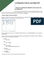 Sensor de Localização de Dispositivos Móveis Com Delphi XE5