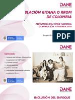Gitanos  / Poblacion DANE en Colombia