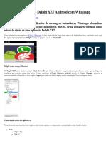 Integrando Aplicativo Delphi XE7 Android Com Whatsapp