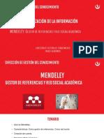Organización de La Información - Mendeley