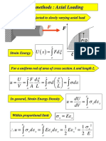 Energy Methods Summary from Mechanics of solids