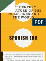 21st Century Literature of the Philippines and the World Spanish Era