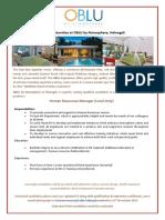 Job Poster - HR Manager 13-11-2019