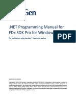FDx SDK Pro .NET Programming Manual (Windows) SG1-0030B-011