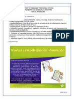 F1AP1AA104PT1GT. Técnicas Recolección Información