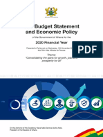 2020 Budget Statement and Economic Policy