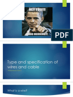 Type and Specification of Wires and Cable
