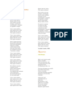 Letras  das músicas de Chico Buarque, Racionais Mc's e Geraldo Vandré