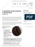 10 Differences Between Robusta & Arabica Coffee
