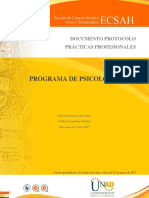 Protocolo Practicas Profesionales Psicologia