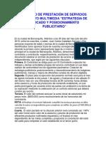 Contrato de Prestación de Servicios Proyecto Multimedia