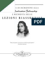 LessonsApplication 2018 Italian
