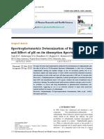 Sulfanilamide Estimation