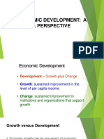 1Economics Institutions and Development a Global Perspective