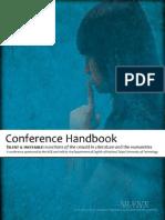 Silent & Ineffable conference handbook