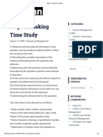 Steps in Making Time Study