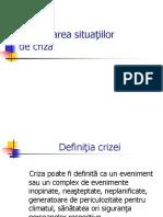 Curs 5 Gestionarea Situatiilor de Criza