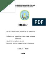 SILABO Refrig. y Cong. 2019- B Alimentos