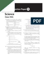 Arihant sample paper 11 answers sheet