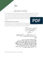 Paneles Discriptivos de Caligrafia Arabe