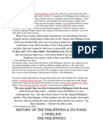 History of the Philippines and Its Food