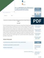 Consideraciones en Torno a La Pertinencia Del Síndrome de Alienación Parental en La Evaluación Psicológica