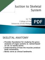 1 Skeletal System Intro