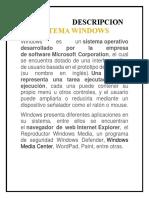 Descripcion Del Sistema Windows