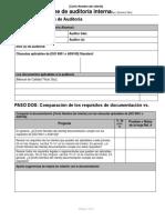 Form - Plan de Auditoria
