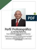 Perfil Profesiografico Del Lic. Jorge Eligio Mendez Junio 2019