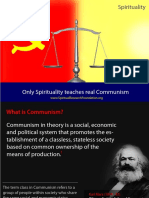 Only Spirituality Teaches Real Communism