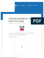 Entertainment and Pop Culture