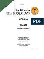 Indian Minerals Yearbook 2016 - Granite