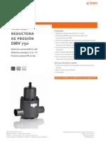 Valvula Reductora Presion Stubbe Dms750