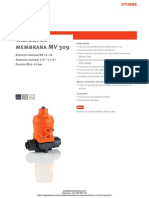 Valvula de Membrana Stubbe Mv309