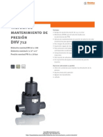 Valvula Alivio Presion Stubbe Dhv712